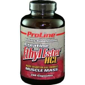 Proline Creatine Ethyl Ester HCL, 240 Capsules Health