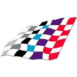 BMW Motor Sport Racing Flag Car Bumper Sticker Decal 7x4