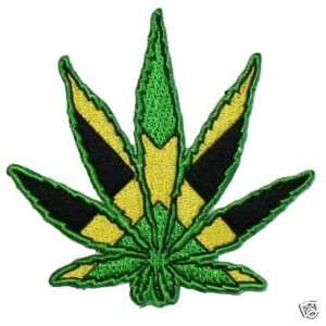 Pot Marijuana Leaf Reggae Logo Embroidered iron on Hippie Patch