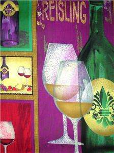 New Wine Fabric Glasses Grapes Drinks Bole |