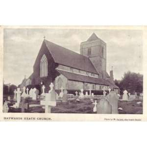 Card English Church Sussex Haywards Heath Church SX125: Home & Kitchen
