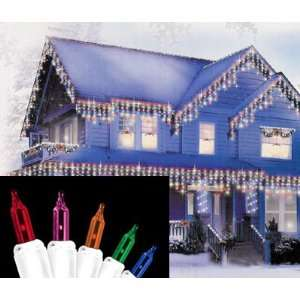 Set of 300 Multi Color Everglow Icicle Christmas Lights