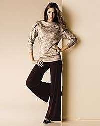 EVA VARRO Womens Off Shoulder Sweater Tweed Tunic 3X