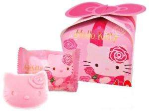 Wedding Favor Hello Kitty Pinky Lovely Rose Soap in Box