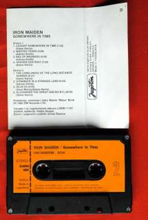 IRON MAIDEN SOMEWHERE IN TIME 1986 UNIQUE EXYU CASSETTE