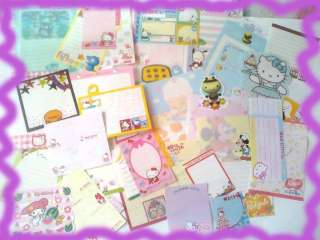 Sanrio Lot 50 Sheets Hello Kitty Melody Disney Stationery/Stat