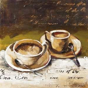 Yosemite Home Decor YB100340B Coffee Cafe II Hand Painted
