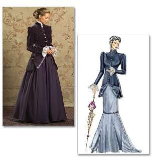 NEW VICTORIAN DRESS JACKET SKIRTS PATTERN B4954 BB 8 14