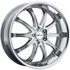 MSR 96 20x7.5 Chrome Wheel / Rim 4x4.5 with a 40mm Offset and a 82.80