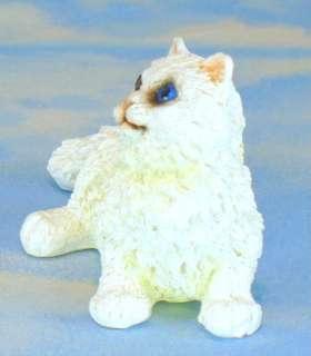 White PERSIAN Kitty Medium Figurine Statue Cat NEW #8