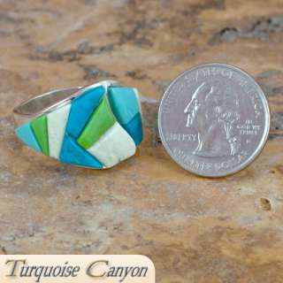 Navajo Native American Turquoise Ring Size 12 1/4 FBG
