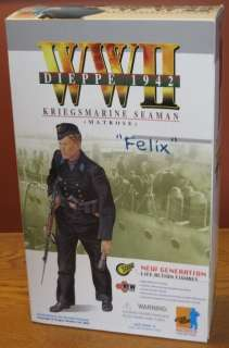DRAGON 1/6 WWII GERMAN KRIEGSMARINE SEAMAN FELIX 12 DML Figure
