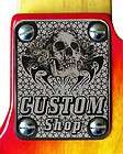 Neck Plate Chrome 4 Fender P J Bass Skull Custom Shop