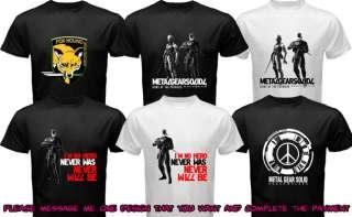 Solid T Shirt Fox Hound Rising Lighting Peace Walker Shirt Tee Men