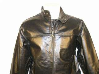 You are biding for a men genuine cow leather jacket,color black.