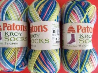 Patons Kroy Socks Stripes yarn, Sailor Stripes, 3 sk