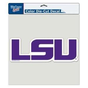 LSU Tigers Die Cut Decal   8x8 Color Logo Sports