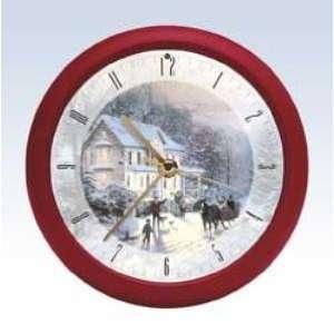 Thomas Kinkade Christmas Clock 8