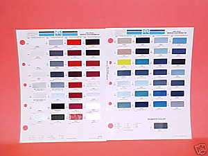 1992 TOYOTA PAINT CHIPS COLOR CHART GUIDE BROCHURE 92