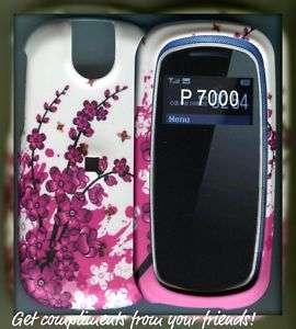 Pantech Impact P7000 Rubberized cover case spring Flowe