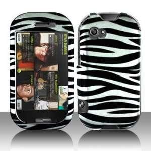 Sharp Kin 2 Silver/Black Zebra Protective Case Faceplate