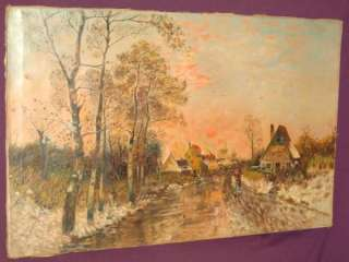 Antique oil painting opean artist signed