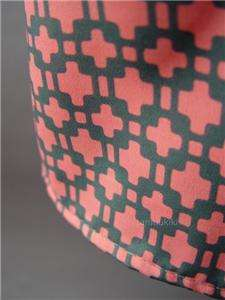 RETRO 60s Print Open Cutout Back Vtg y Shirt Dress L
