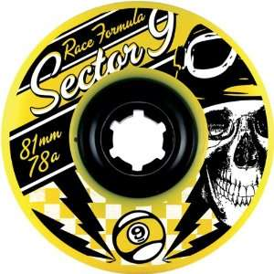 Sector 9 Race Formula 81mm 78a Skateboard Wheels w/ Free B