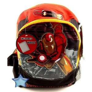 Iron Man Backpack with Free Wallet Full size, Ironman