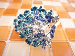 Swarovski Crystal NEW ARRIVAL Flower Barrette Comb Hair Clip   Select