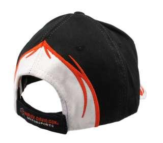 Embroidered Harley Davidson Tribal Flame Baseball Cap