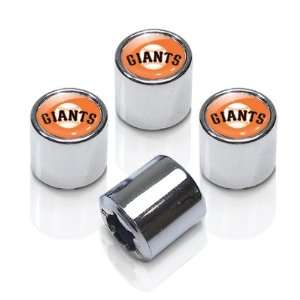 MLB San Francisco Giants Chrome Tire Stem Valve Caps