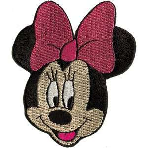 Walt Disney Minnie Mouse Face Iron On Embroidered Patch DS