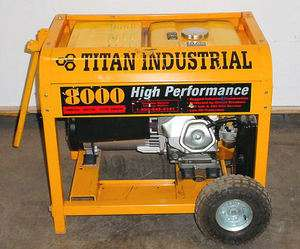 TITAN 8000 WATT GAS ENGINE GENERATOR 11 HP 3720 RPM N/R