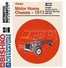 1973 DODGE MOTOR HOME Shop Service Repair Manual CD