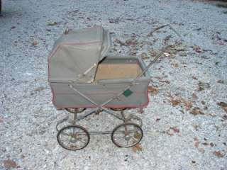 Antique Vintage Baby Carriage Foldable Stroller