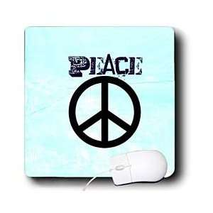 Patricia Sanders Creations   Aqua Peace Sign Symbols