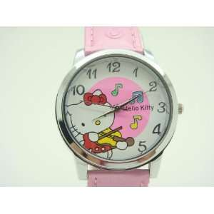 Miss Peggys   Childs Pink Violin Hello Kitty Watch and a