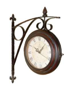 London Style Railway Train Station Metal Clock 16 (Double sided) WALL