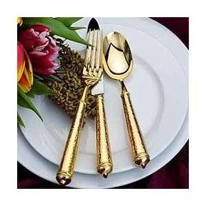 Ricci Argentieri Leopardo Gold Plate 20 Piece Set Kitchen