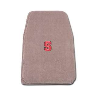 Two Piece Floormat with NCAA North Carolina State Logo Automotive