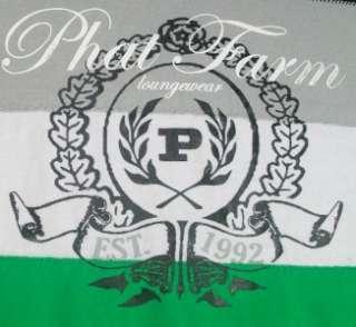 Phat Farm Logo Short Sleeve T Shirt Black Lg Loungewear