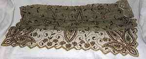 GOLD/SILVER/COPPER SEQUINED/BEADED NET HOLIDAY TABLE RUNNER 89 X 42