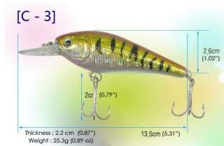 High quality Fishing Lures Baits   Minnow, Popper, Vibration