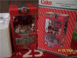 Coke GRABBIN MUSICAL Machine Coca Cola BANK 1997 Bottle