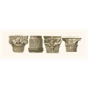 Capitals I by Giovanni Battista Piranesi 36x12