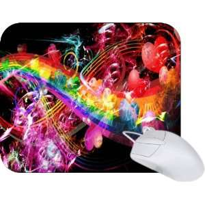 Rikki Knight Love and Hearts Rainbow Design Mouse Pad