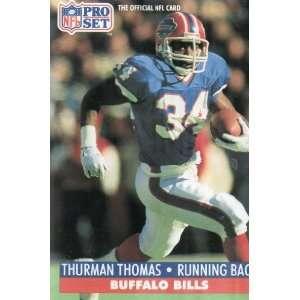 THURMAN THOMAS, Running Back, Buffalo Bills, Jersey #34, Card #86, NFL