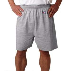 Champion Mens Cotton Gym Short Silver Grey XL: Sports
