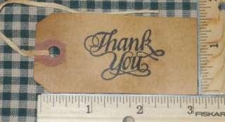 25 MEDIUM FANCY THANK YOU Primitive Grungy Hang Tags